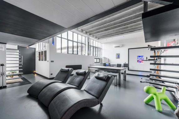 en images a vendre une ancienne usine r nov e en loft lyon. Black Bedroom Furniture Sets. Home Design Ideas