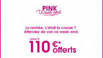 Boursorama Banque : 110 € offerts pour le Pink Weekend